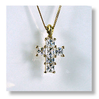 Princess Cut Cz Cross
