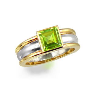 9ct. & Silver with Peridot.
