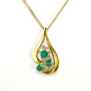 Natural  Emeralds & Diamonds 9ct.