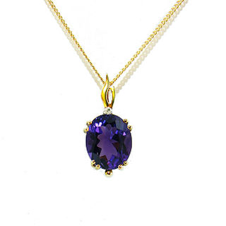 Amethyst & Diamond Accent 14ct.