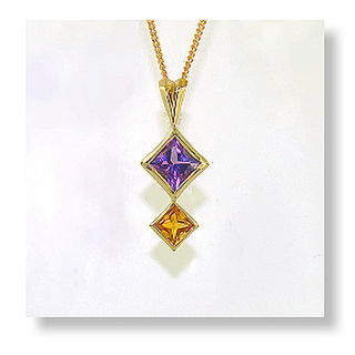 Amethyst & Citrine 9ct.
