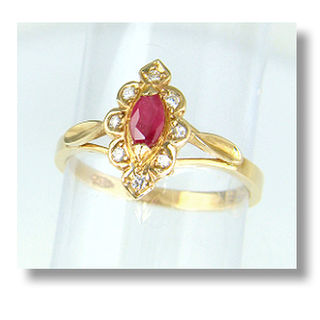 Ruby & Diamonds 9ct.