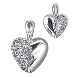 Enhancer Filigree Heart Silver