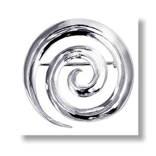 Koru Brooch Sterling Silver.