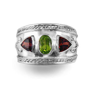 Natural Red Garnets & Peridot