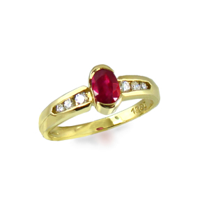 Ruby & Diamonds 18ct.