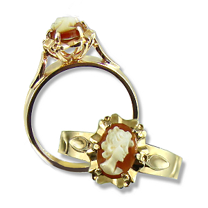 Classic Shell  Cameo 9ct.