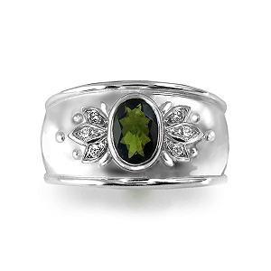 Natural Green Tourmaline Ring
