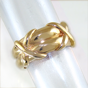 Twin Kiss Ring 9ct.