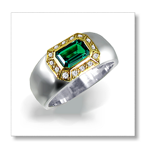Biron Emerald & Diamonds 9ct. TT