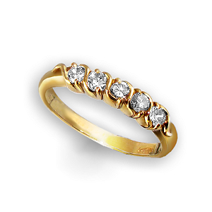 Diamond Rope Style 18ct. Ring