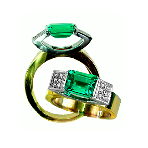 Biron Emerald & Diamonds 18ct.